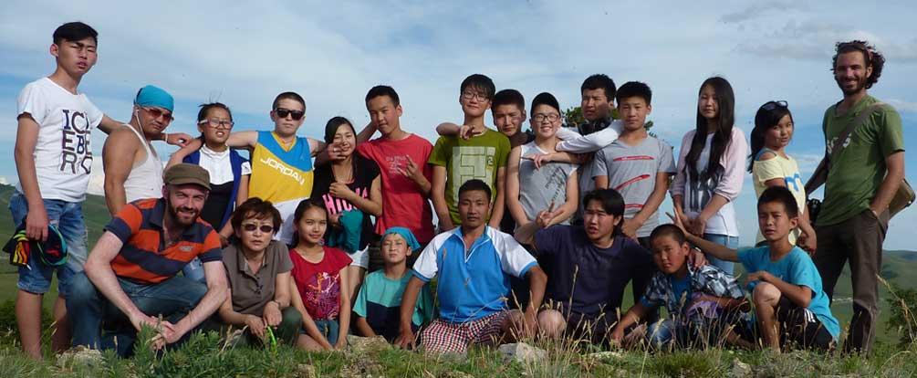 English class field trip, Mongolia