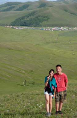 Two of my students, Mongolia