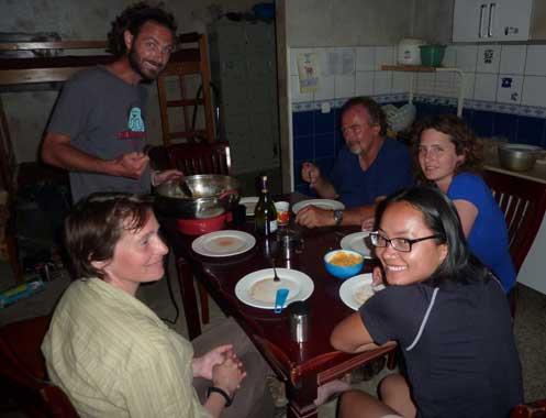 Last dinner in Mongolia